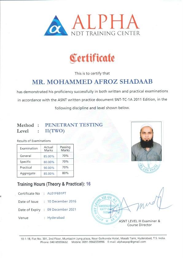 Ndt Level 2 Certificate Verification - Best Design Sertificate 2018