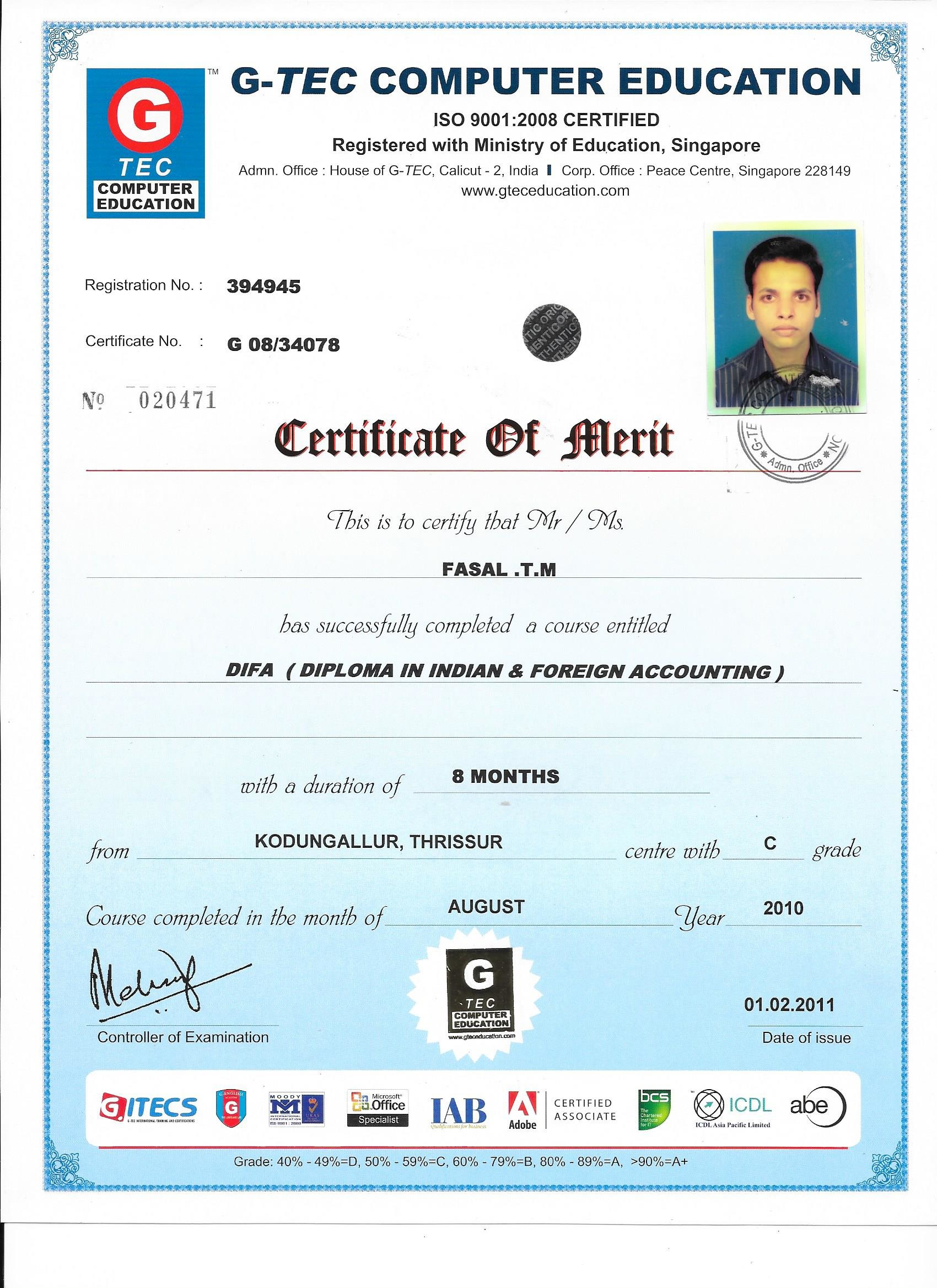 gtec computer education courses  Mohamed Fasal TM - Bayt.com