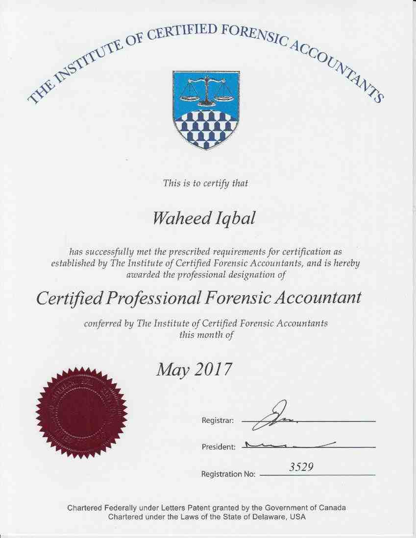Forensic Accounting Certificate - Best Design Sertificate 2018