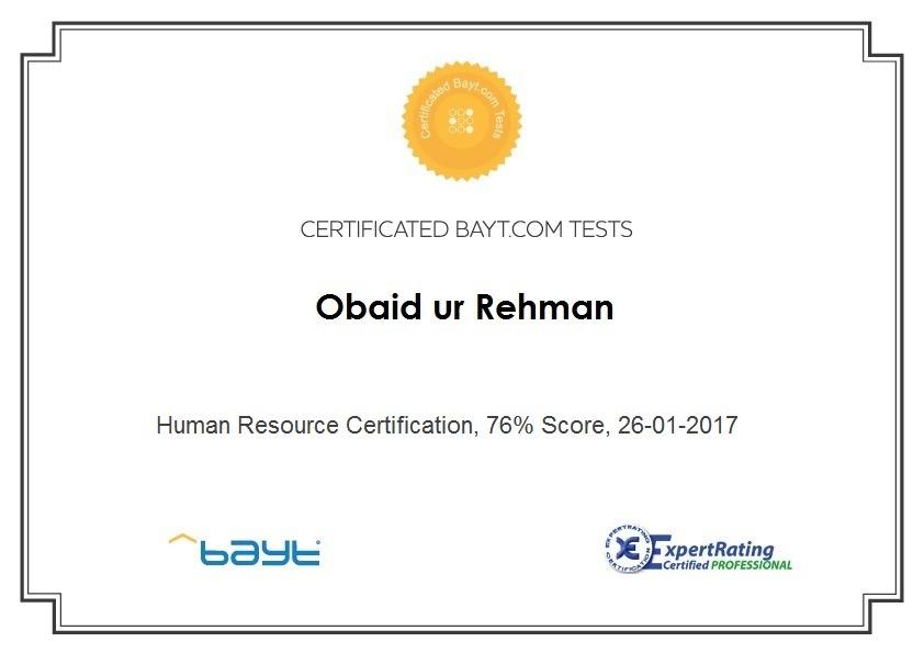 Obaid ur Rehman - Bayt.com
