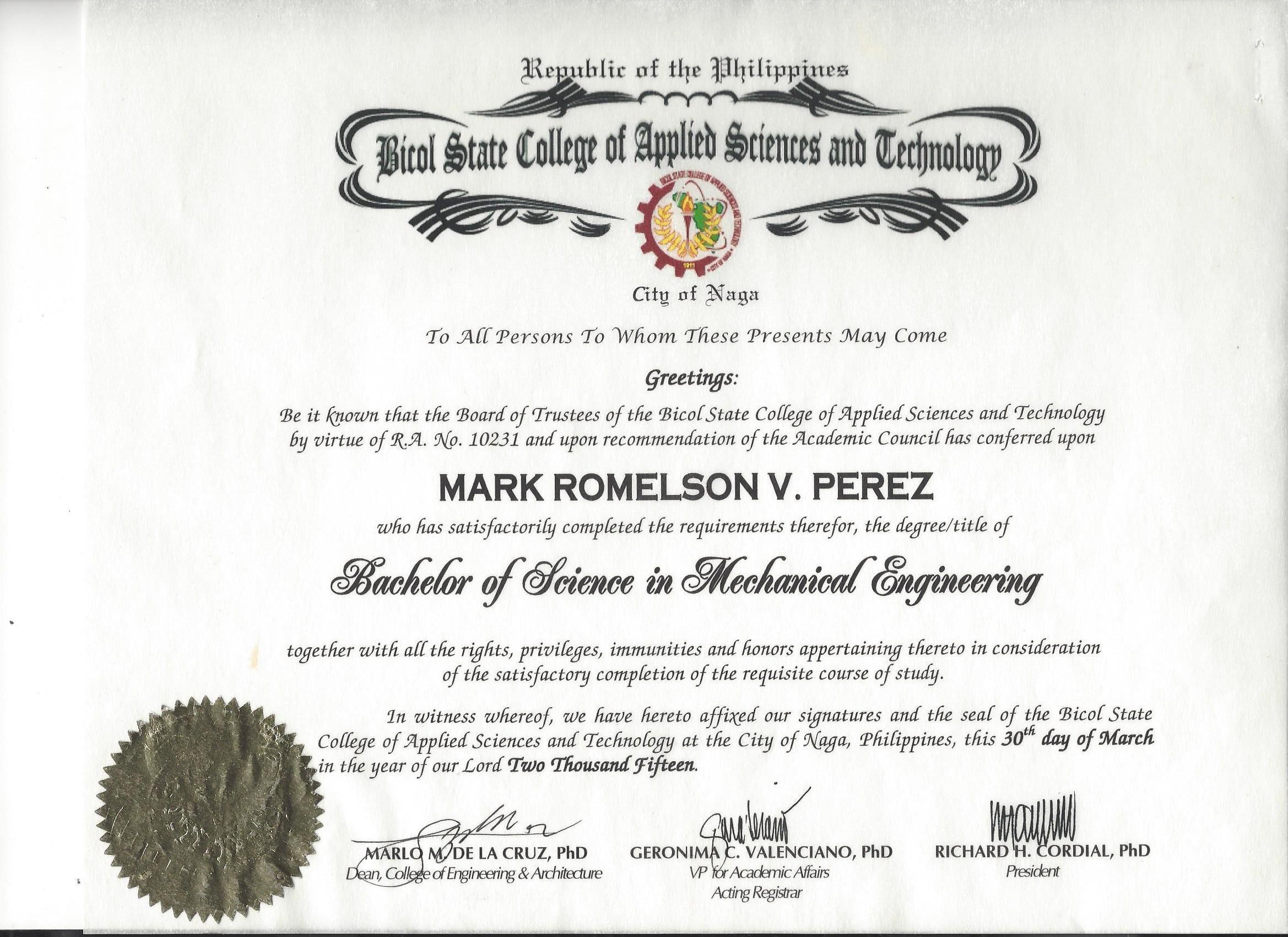 Mark Romelson Perez Bayt