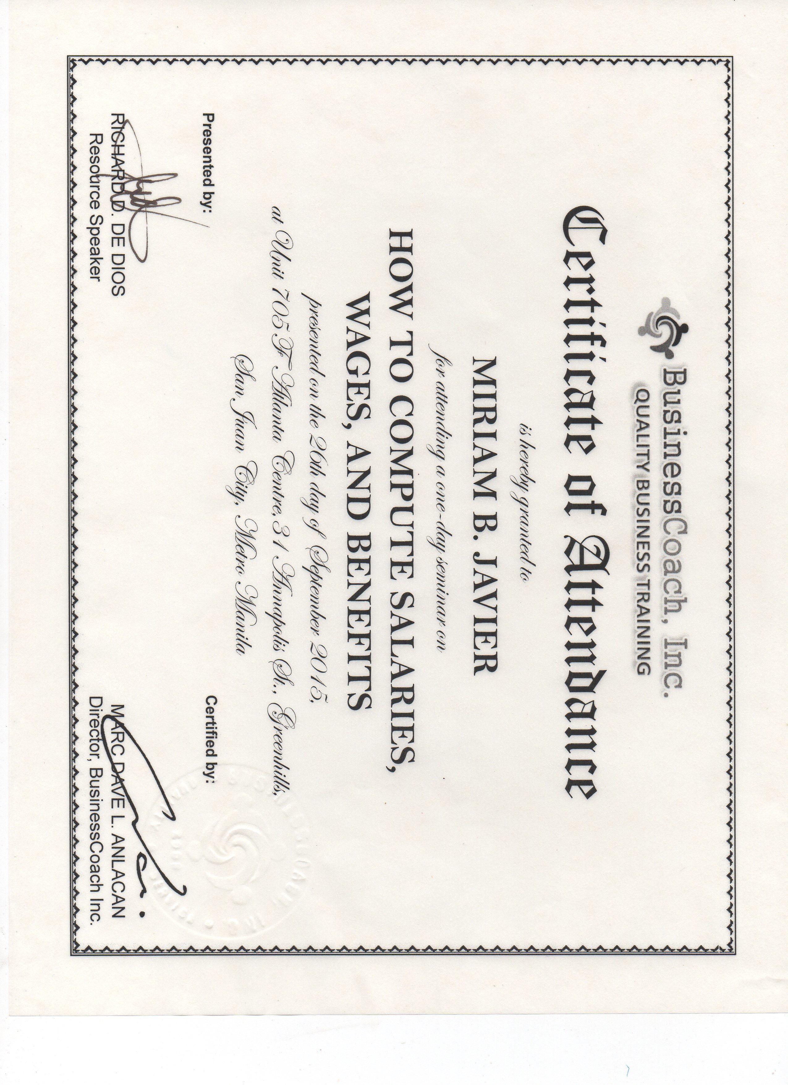Certified Business Coach Training Tollebild