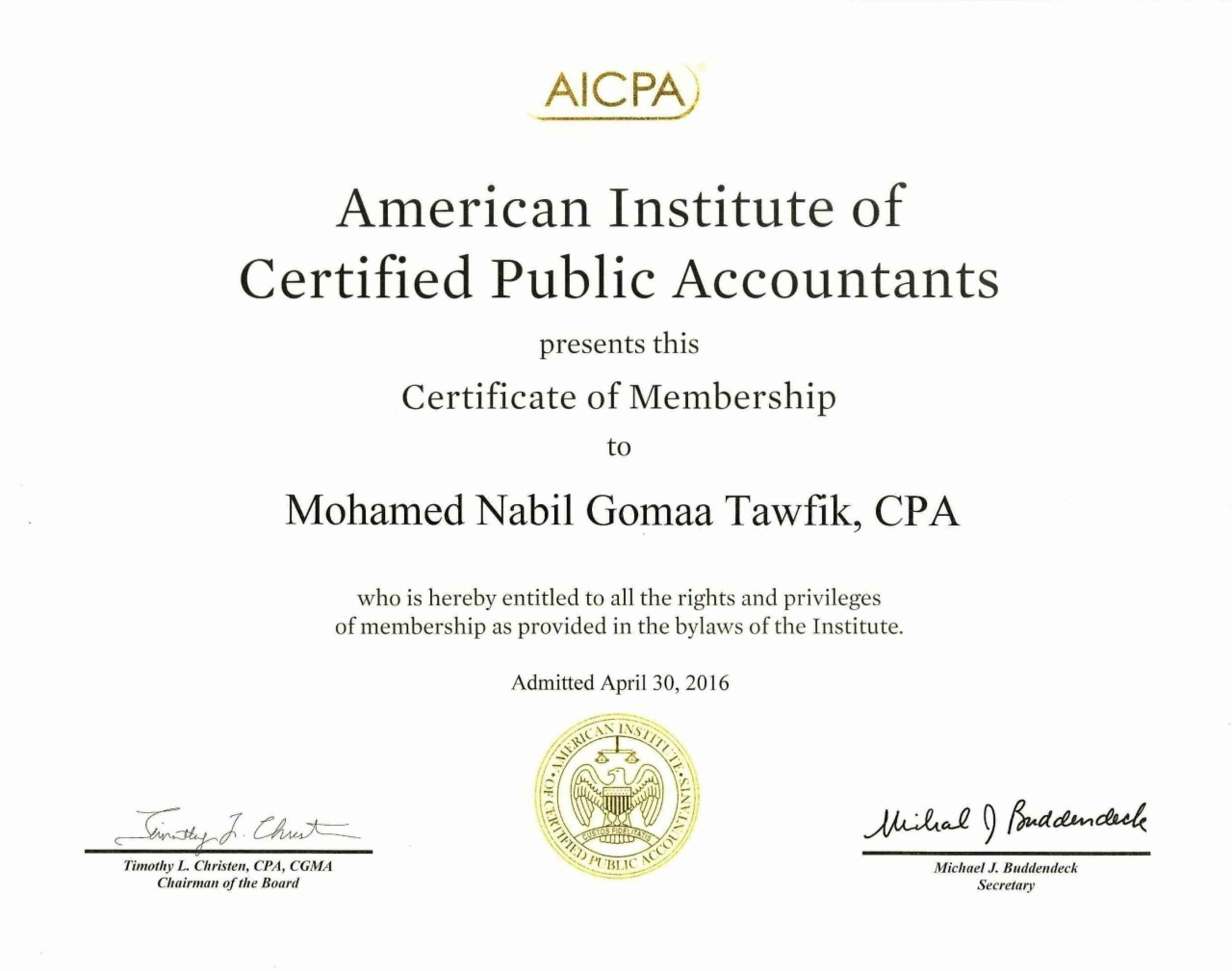 Mohamed Tawfik Cpa Cma Ctp Csca Bayt