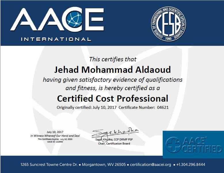 Jehad Al Daoud PMI SP PMP PMI RMP CCP PSP - Bayt.com