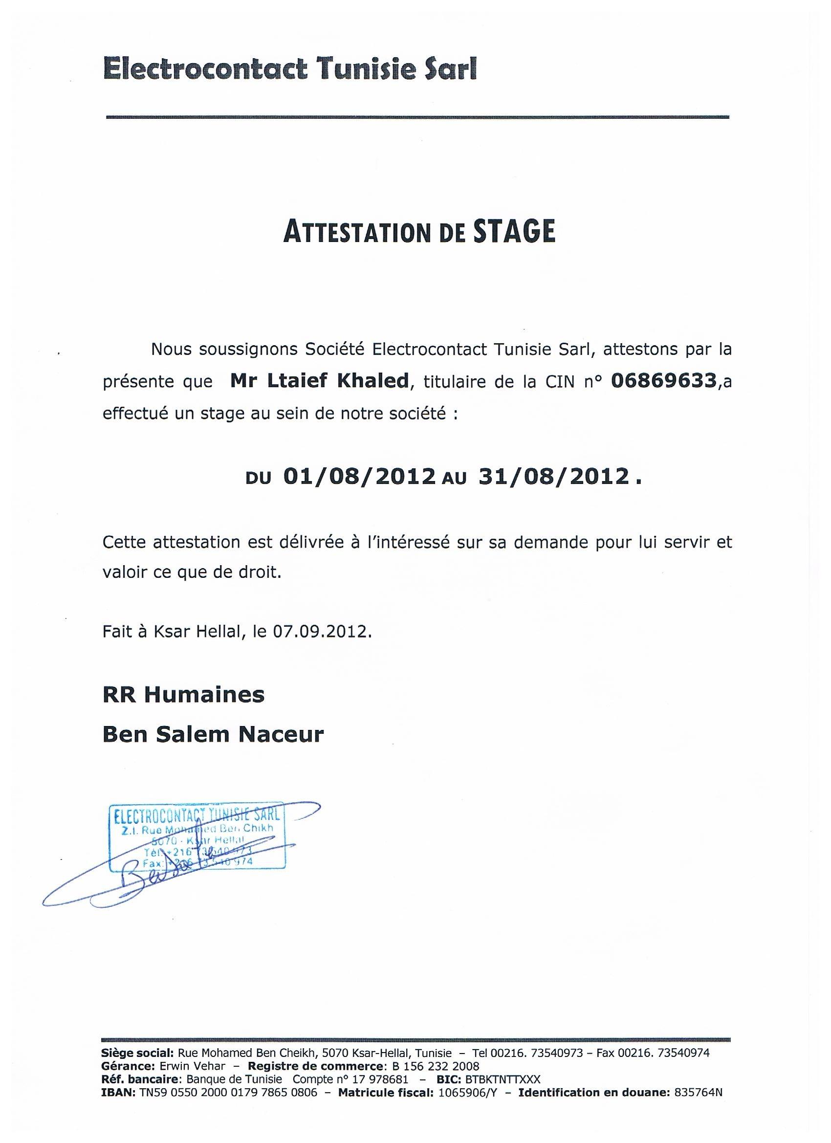 Attestation Pour Servir Et Faire Valoir Ce Que De Droit Resto Sud