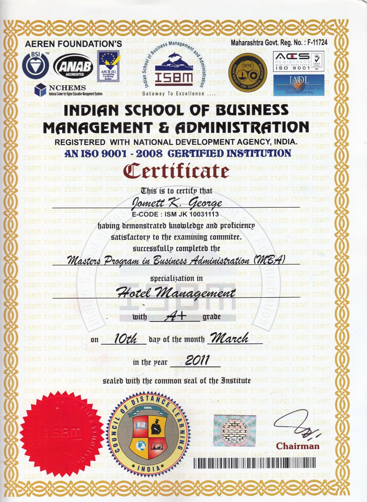 Diploma In Food Beverage Services Management In Mumbai