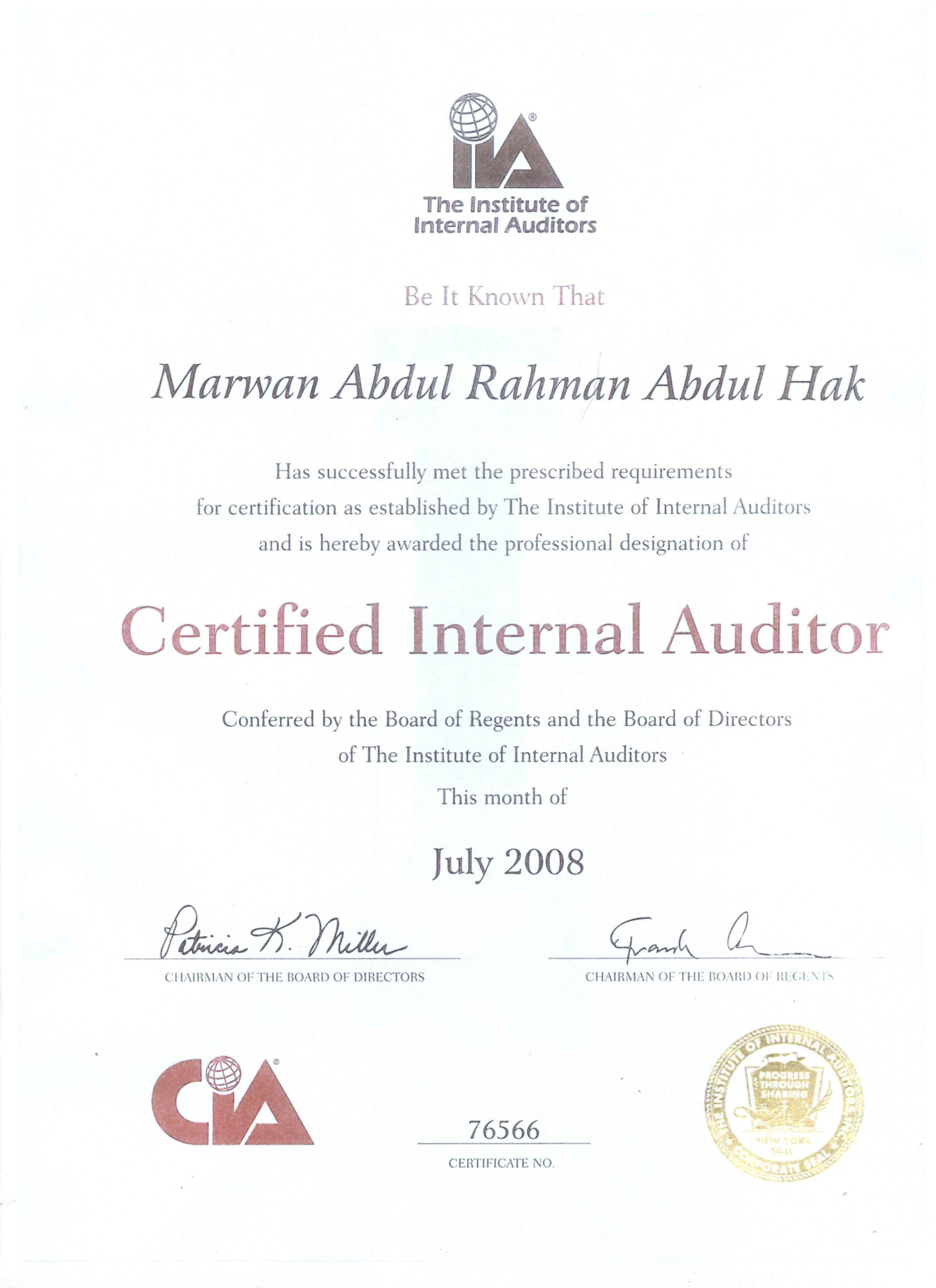 Marwan Abdul Hak Cia Cfe Ccsa Crma Bayt
