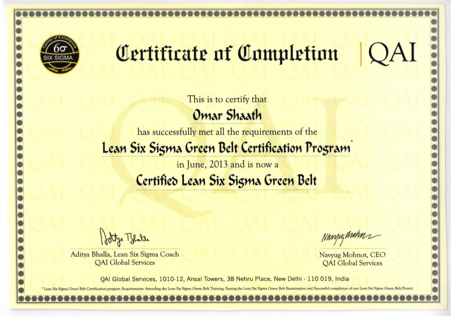 Six Sigma Green Belt Certification Course Image Collections