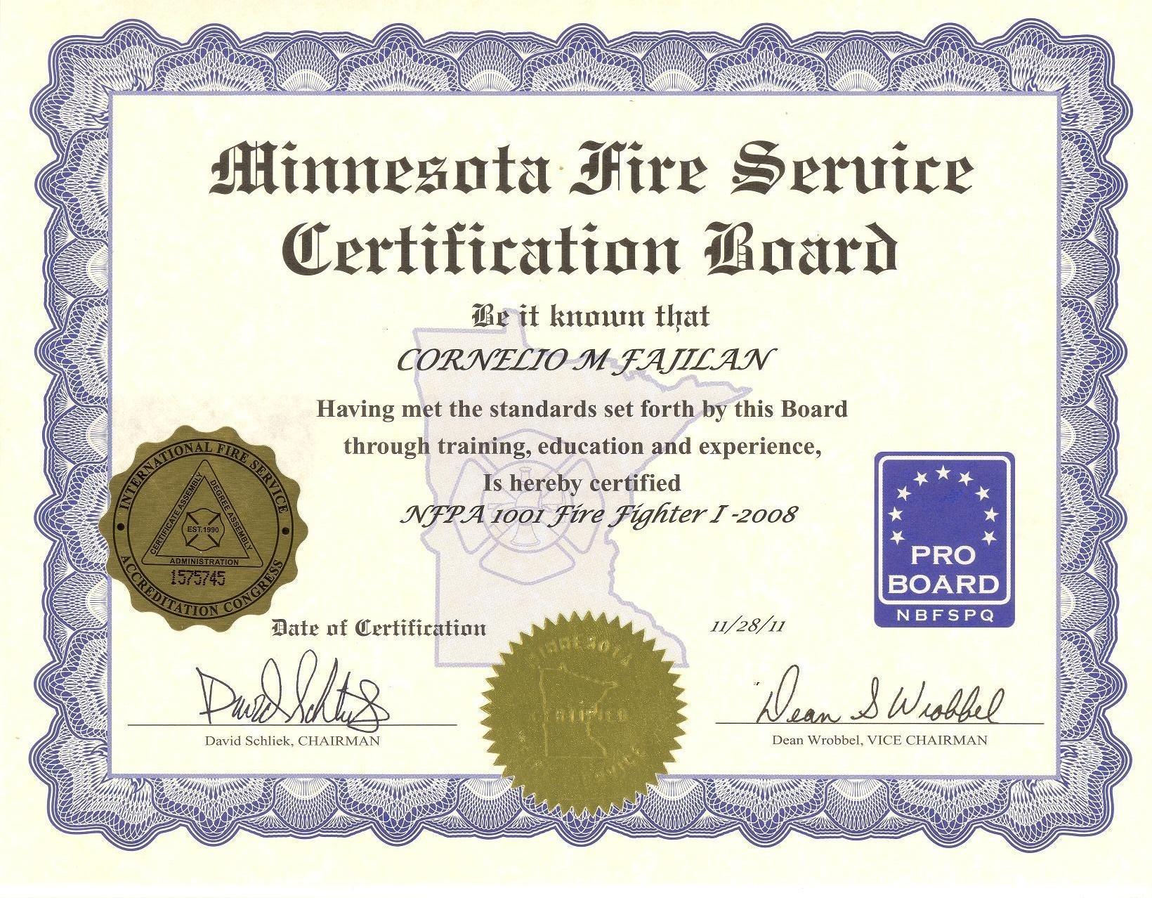 Proboard Certification Images Certificate Design Template Free