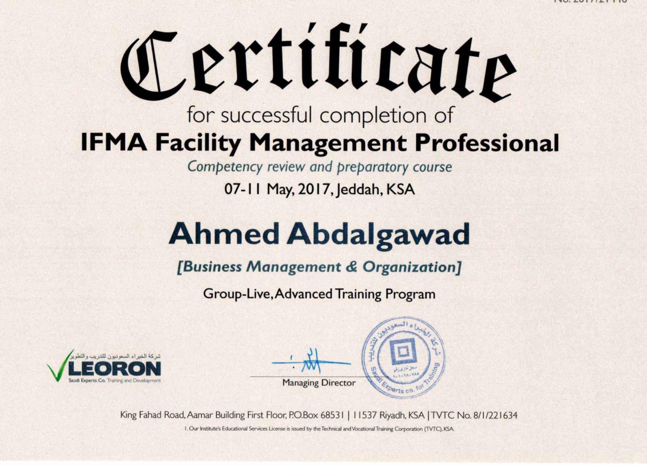 Uci Facilities Management Certificate Best Design Sertificate 2018