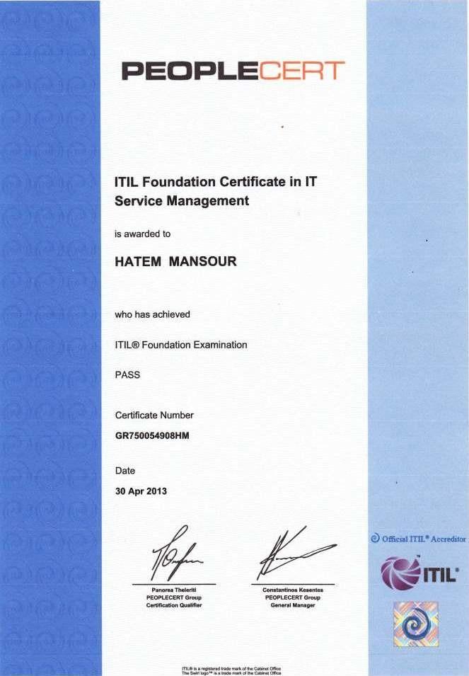 Hatem Mansour Itil Pmp Certified Bayt