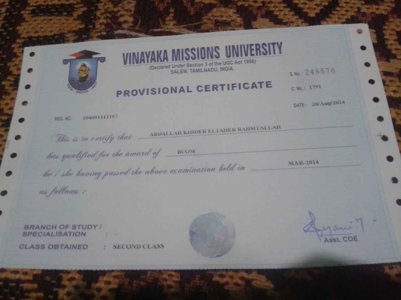 Abdalla khider eltaher khider bayt bachelor of commerce b from vinayaka missions university salem india altavistaventures Image collections