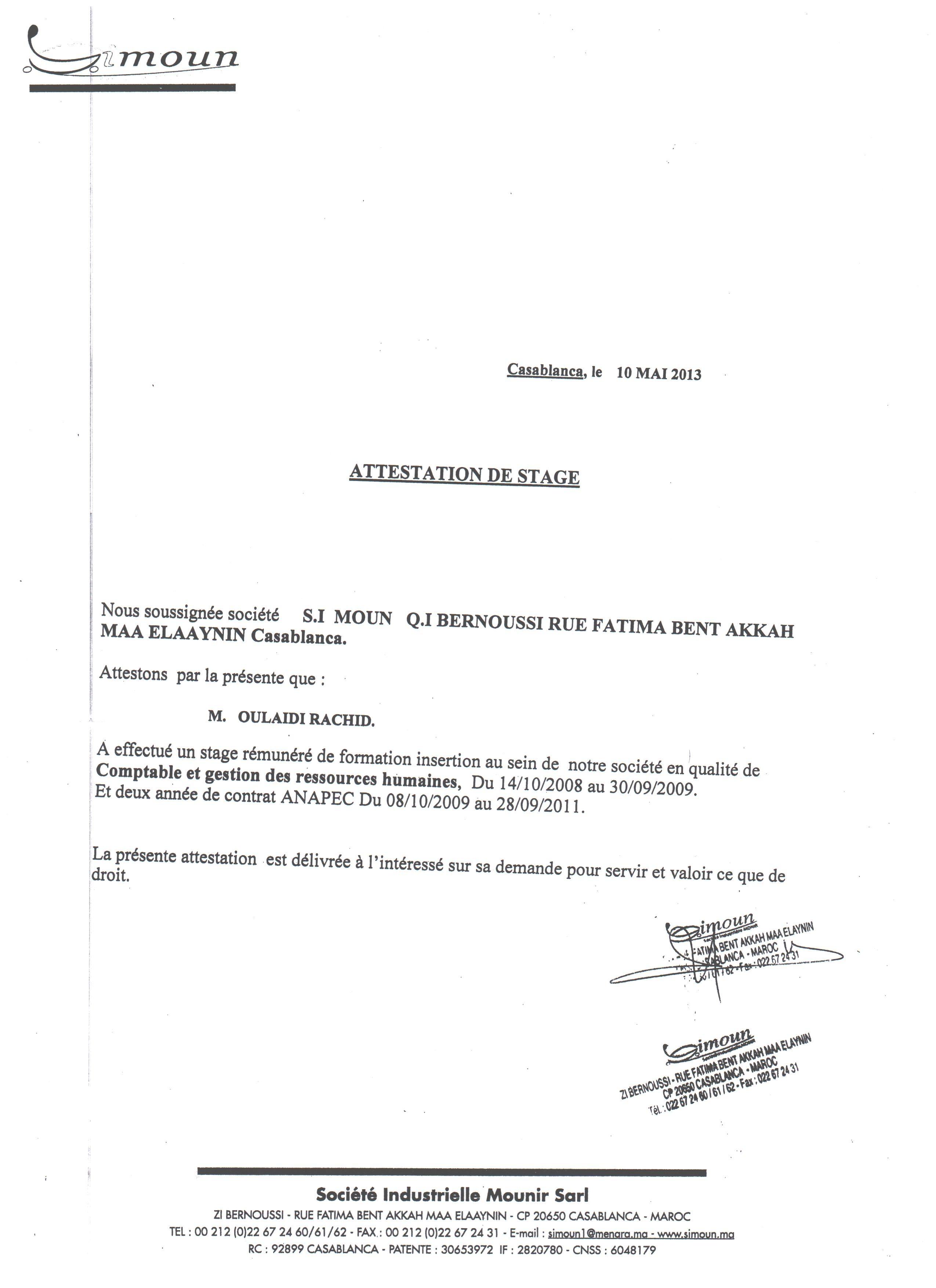 Preavis Contrat Anapec Maroc Vinny Oleo Vegetal Info