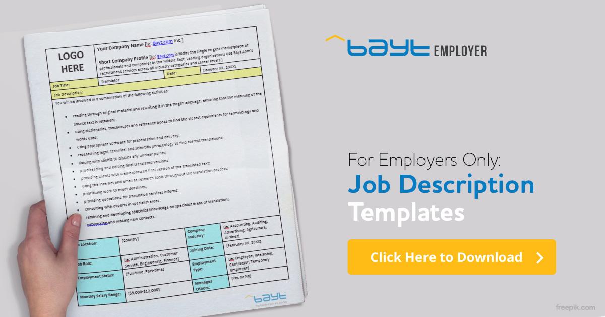 Bayt.com Job Descriptions - Bayt.com Blog